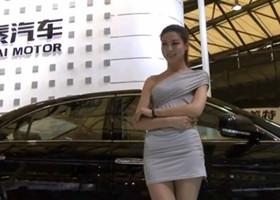 2013上海车展美女车模天生丽质