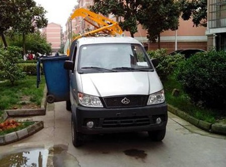 清源牌QY5030ZZZBEVYL纯电动自装卸式垃圾车